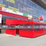 Летнее кафе KFC в Новосибирске