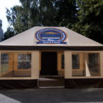 Торгово-выставочный шатер для Сибирского архитектурно-строительного университета СИБСТРИН, 6х3 метра