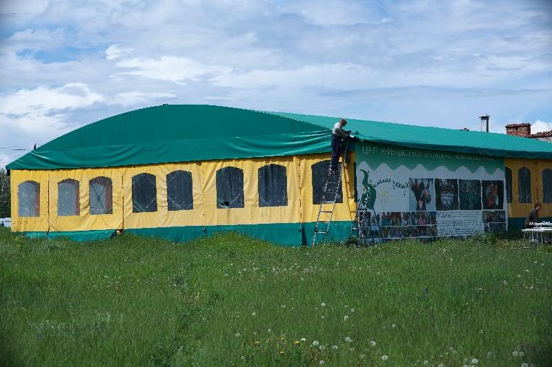 Изготовление большого шатра