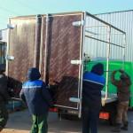 Распашные ворота на грузовик