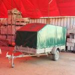 Каркас и тент на легковой прицеп для транспортировки снегоход, размер каркаса и тента - 330х145х150 см.