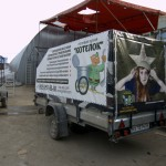 Брендирование легкового прицепа МЗСА в Новосибирске