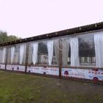 Прозрачные шторы для летнего кафе из ПВХ-пленки