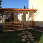 Прозрачная штора для веранды
