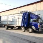 Сдвижные шторы на грузовики