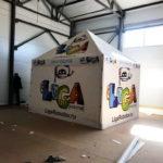 Палатка торговая брендированная для компании «Лига роботов»